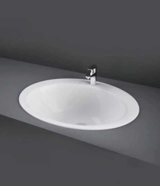 RAK Over Counter Basins 53cm 2 Tap Hole Jessica Over Counter Wash Basin
