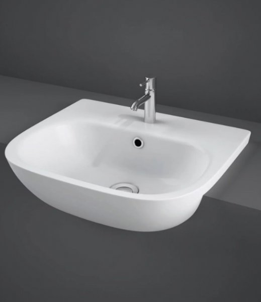 RAK Tonique 52cm 1 Tap Hole Semi Recessed Basin