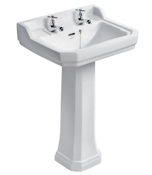Ideal Standard Waverley Classic 56cm Basin - 2 Tap Hole