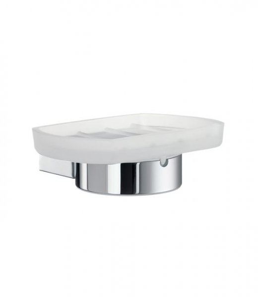 Smedbo Air Holder with Frosted Glass Soap Dish (Stock Clearance)
