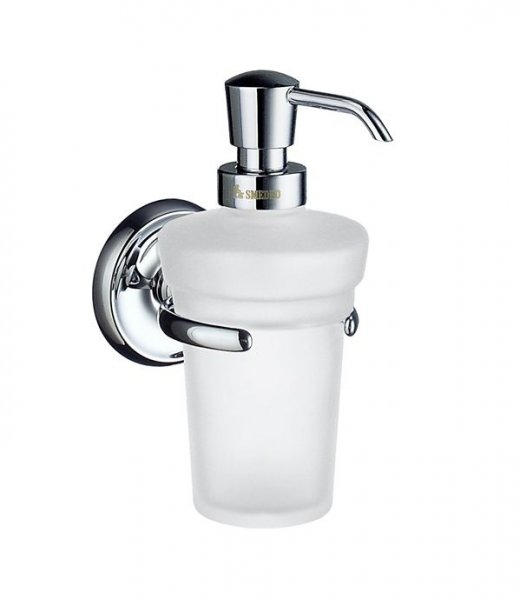 Smedbo Villa Holder with Glass Soap Dispenser
