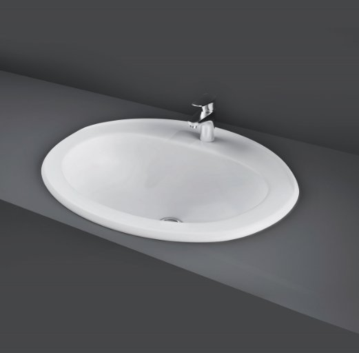 RAK Over Counter Basins 56cm 1 Tap Hole Mira Over Counter Wash Basin
