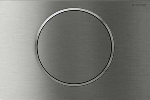 Geberit Sigma 10 Stainless Steel Brushed/Polished/Brushed Single Flush Plate
