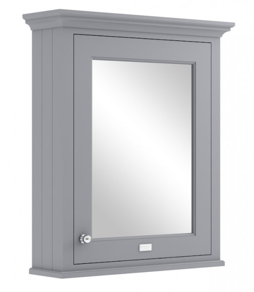 Bayswater 600mm Plummett Grey Mirror Wall Cabinet