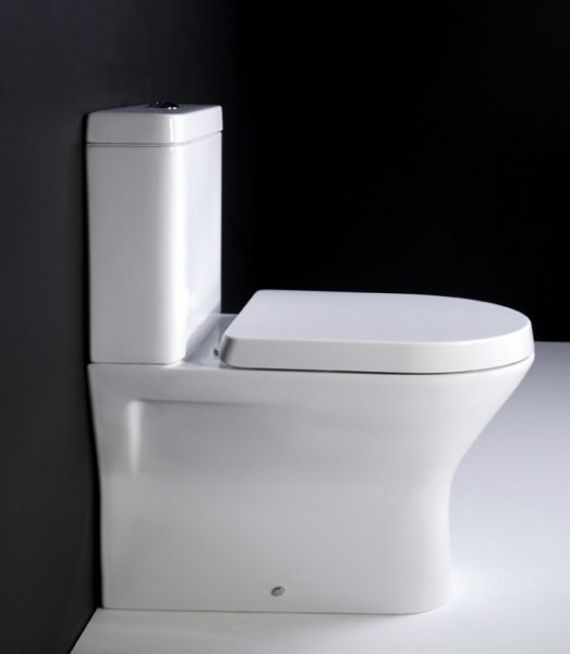 RAK Resort Mini Close Coupled Back To Wall WC Pan With Sandwich Soft Close Seat