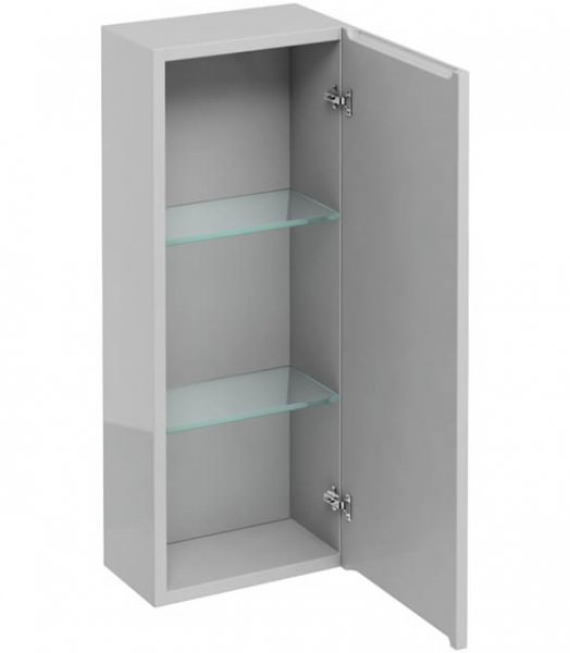 Britton Bathrooms Light Grey Single Door Wall Unit