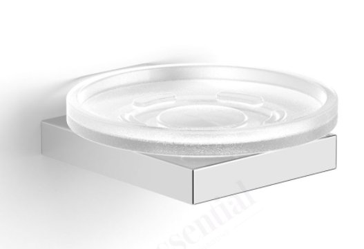 Essential Urban Square Soap Dish Holder with Glass Dish