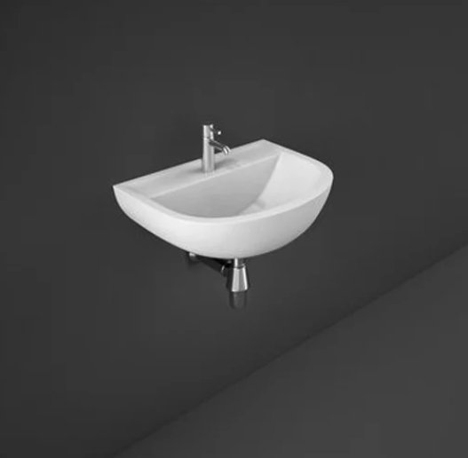RAK Compact 50cm 1 Tap Hole Basin With No Overflow