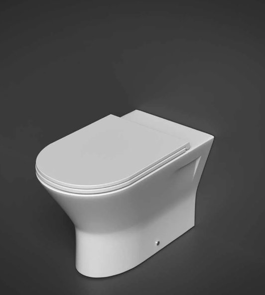 RAK Resort 42.5cm Comfort Height Back To Wall Pan With Sandwich Soft Close Seat