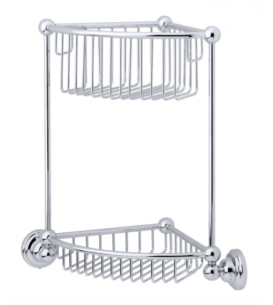 Perrin & Rowe Traditional Two Tier Corner Basket (6959)