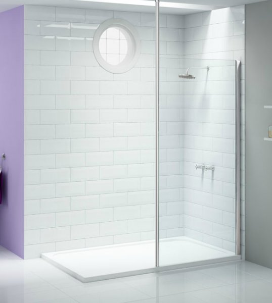 Merlyn Ionic Showerwall with Vertical Post