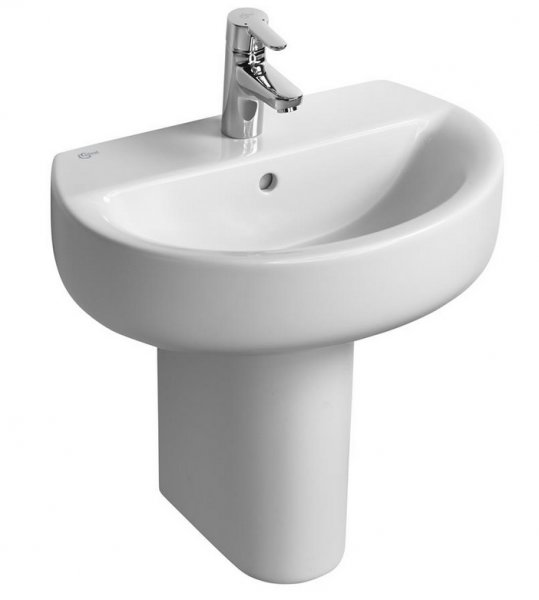 Ideal Standard Concept Space 55 x 38cm Sphere Pedestal Basin