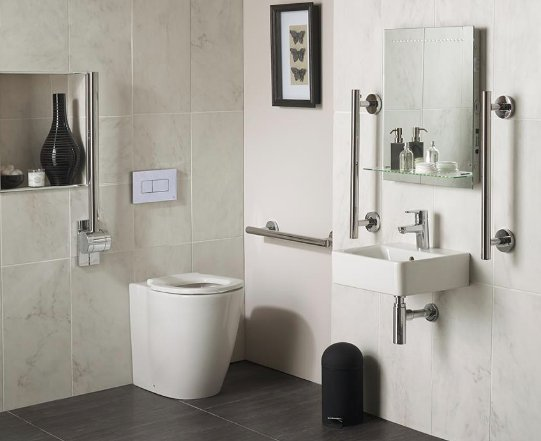 Ideal Standard Concept Freedom 40cm Basin and Raised Height BTW WC