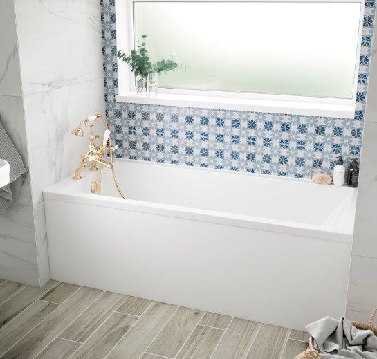 bc solidblue durham 1500 x 750mm bath solid blue