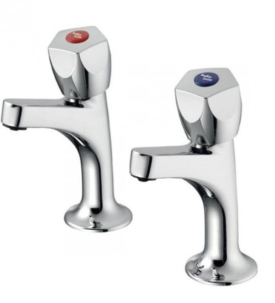 Ideal Standard Sandringham 21 High Neck Pillar Taps