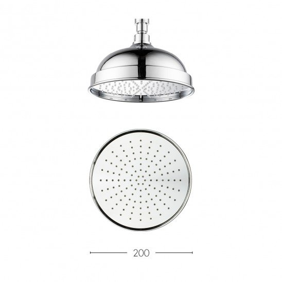 Crosswater Traditional Belgravia 200mm Easy Clean Shower Head