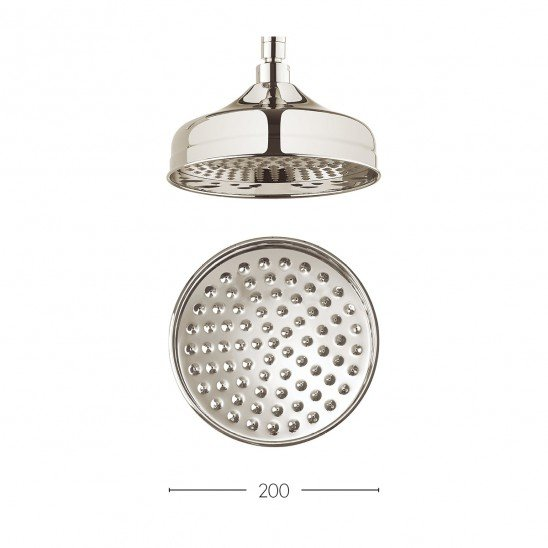 Crosswater Traditional Belgravia 200mm Nickel Shower Head