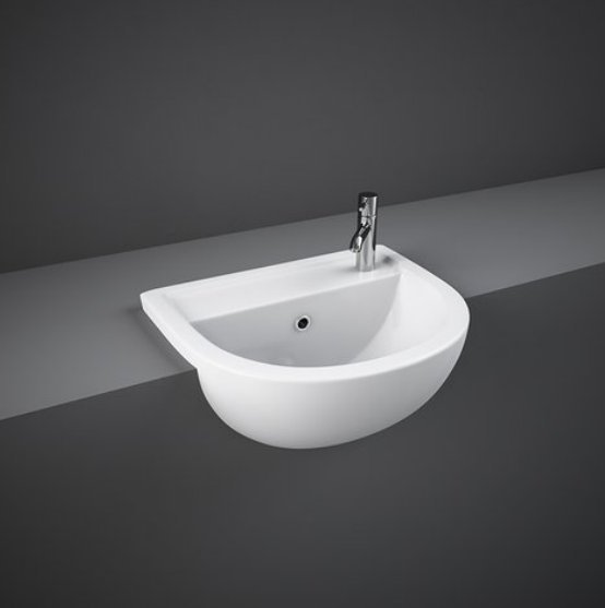 RAK Compact 45cm 1 Tap Hole Semi Recessed Basin