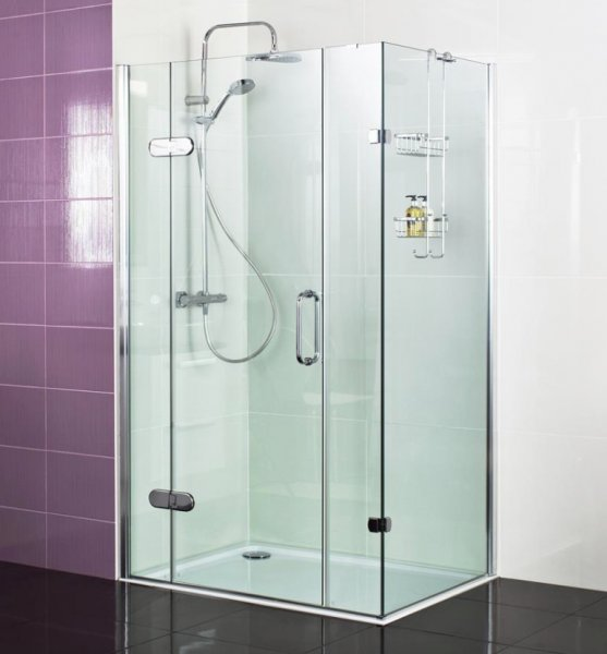 Roman Decem x 1400 x 900mm Hinged Door with Two Inline Panels