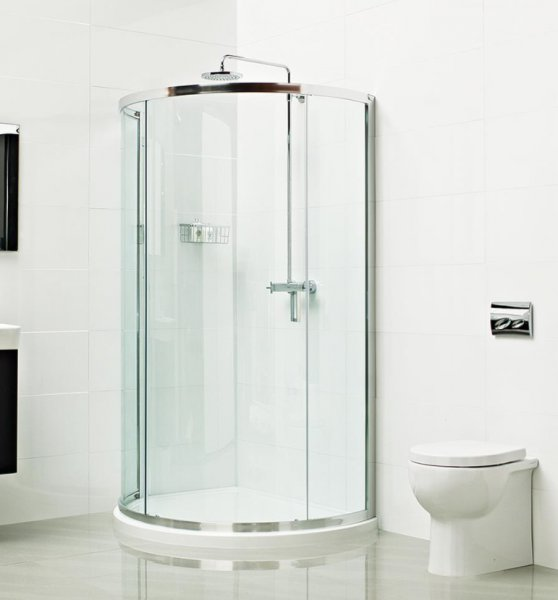 Roman Lumin8 800 x 800mm Bow Fronted Quadrant Shower Enclosure