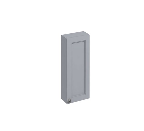 Burlington Bathrooms Grey 30cm Single Door Wall Unit