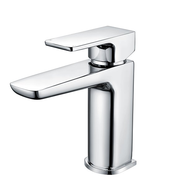 RAK Moon Chrome Mini Mono Basin Mixer Tap With Clicker Waste