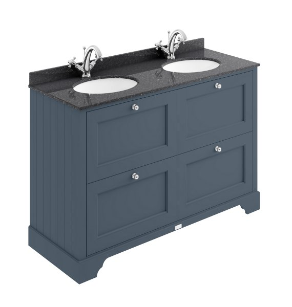 Bayswater 1200mm Stiffkey Blue 4 Drawer Basin Cabinet
