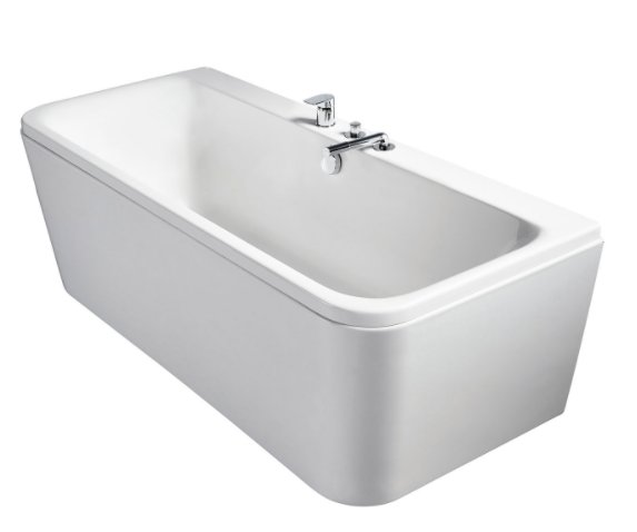 Sottini Turano D Shaped 170 x 75cm Double Ended Bath and Panel
