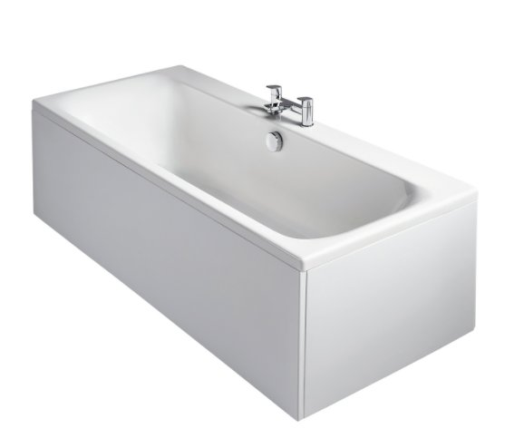 Sottini Turano Idealform Plus+ 180 x 80cm Double Ended Rectangular Bath