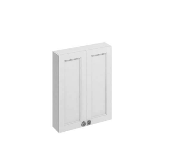 Burlington Bathrooms Matt White 60cm Double Door Wall Unit