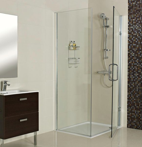 Roman Decem x 900mm Hinged Door with Side Panel
