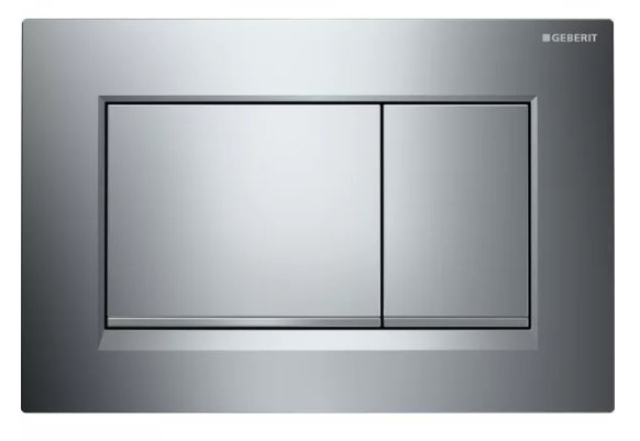 Geberit Sigma 30 Gloss/Matt Chrome/Gloss Dual Flush Plate