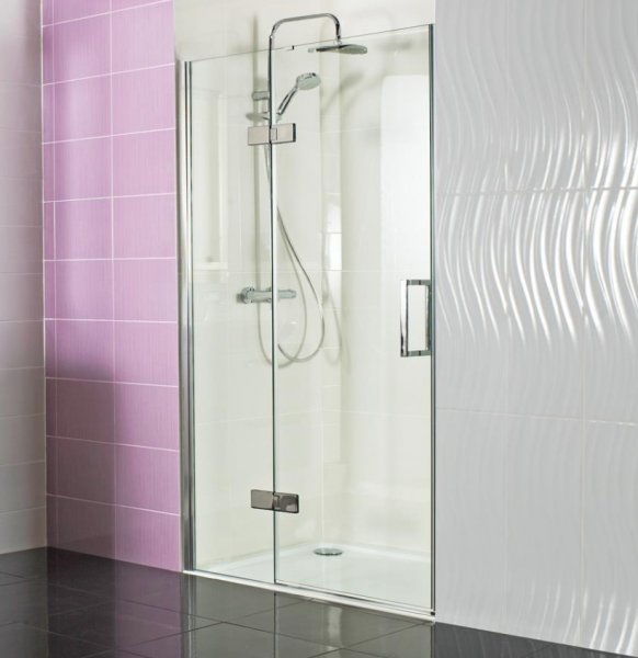 Roman Decem x 1200mm Hinged Door with Hinged Inline Panel