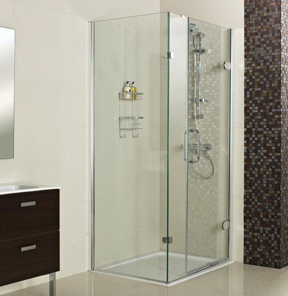 Roman Decem x 1000 x 800mm Hinged Door with One Inline Panel