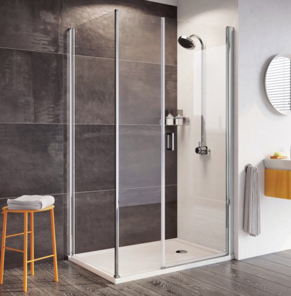 Roman Innov8 1400mm Pivot Door with In-line Panel and Side Panel