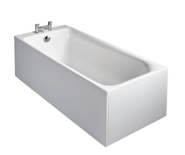 Sottini Turano Idealform Plus+ 170x75cm Rectangular Bath with Filler Waste