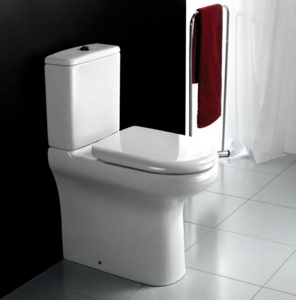 RAK Compact 45cm Rimless Close Coupled Back To Wall WC Pack Without Seat