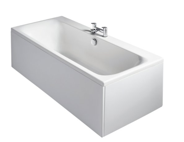 Sottini Turano IdealformPlus+ 180x80cm Double Ended Bath with Filler Waste