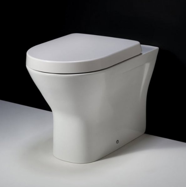 RAK Resort 45cm Extended Height Back To Wall Pan With Wrap Over Soft Close Seat