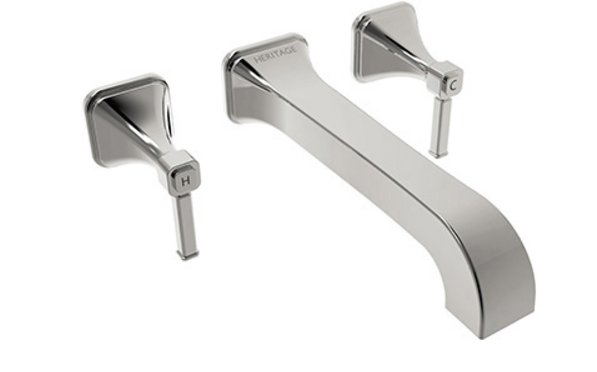 Heritage Somersby Wall Mounted Basin Mixer