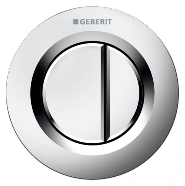 Geberit Type 01 Matt Chrome Dual Flush Button For 8cm Concealed Cistern