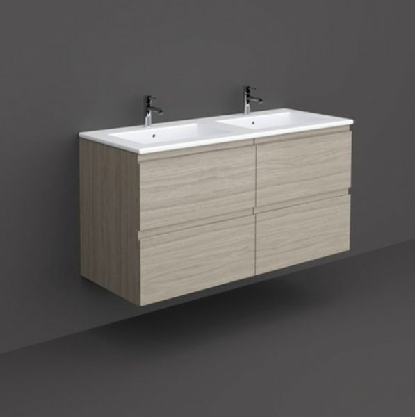 RAK Joy 120cm Grey Elm Wall Hung Basin Unit