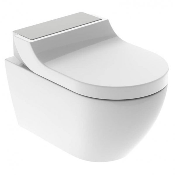 Geberit AquaClean Tuma Comfort WC Complete Solution with Wall Hung WC (Stainless Steel)