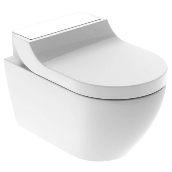 Geberit AquaClean Tuma Comfort WC Complete Solution with Wall Hung WC (White Glass)