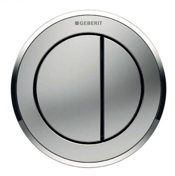 Geberit Type 10 Gloss Chrome/Matt Chrome Dual Flush Button For 12 and 15cm Concealed Cistern