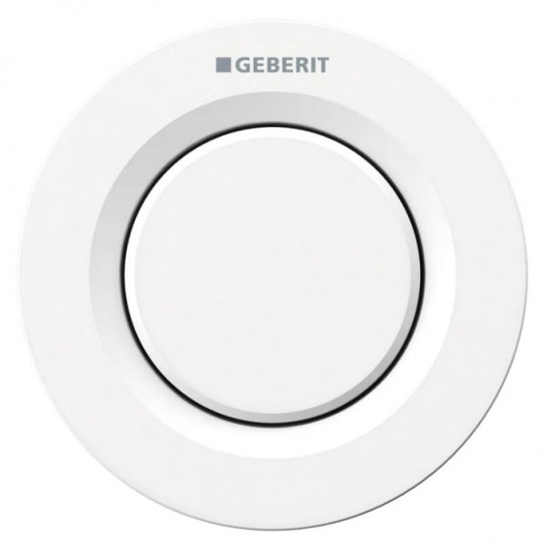 Geberit Type 01 White Alpine Single Flush Button For 8cm Concealed Cisterns