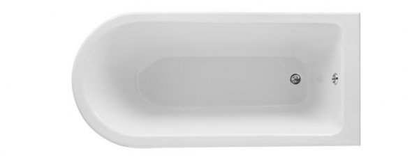 Bayswater White 1700mm Single End Free Standing Shower Bath