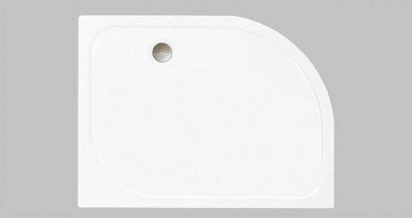 Merlyn MStone Offset Quadrant Tray 900 x 760mm with Waste