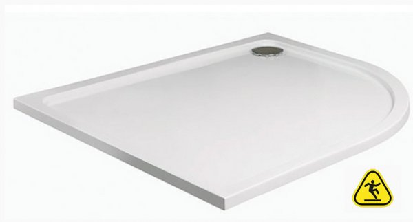 JT Fusion 900 x 760mm Offset Quadrant Shower Tray with Anti-Slip