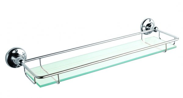 Bayswater Chrome Glass Gallery Shelf